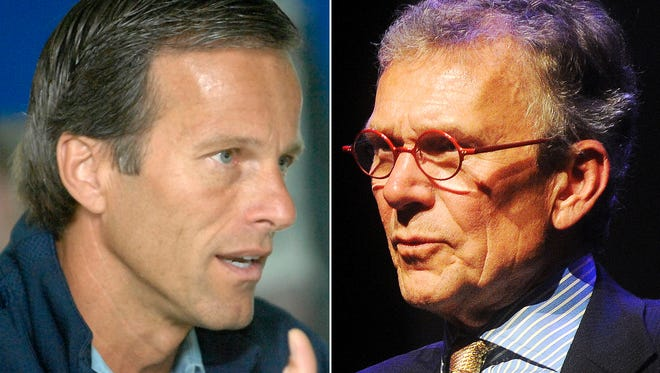 John Thune (left) and Tom Daschle.