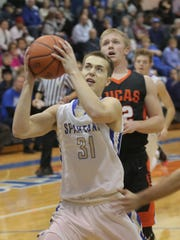 St. Peter's Jared Jakubick matched a career high with 32 points against Lucas.