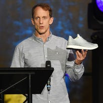 Eric Liedtke, an Adidas executive, speaks at an event on Monday in New York City.