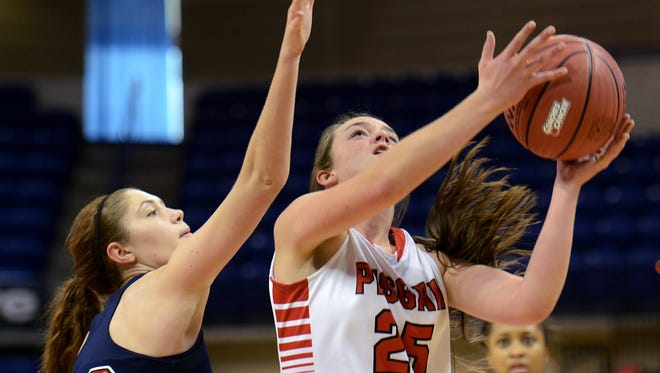 Maddie Webb, right, and the Pisgah girls were part of November's Coaches vs. Cancer Shootout in Asheville.