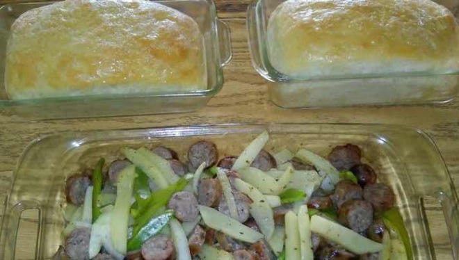Lovina says Susan did a great job of making homemade bread for a casserole supper recently.