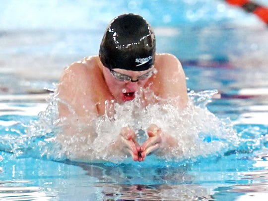 Northville senior Travis Nitkiewicz holds two individual school records in the 100-yard breaststroke and 200 IM.
