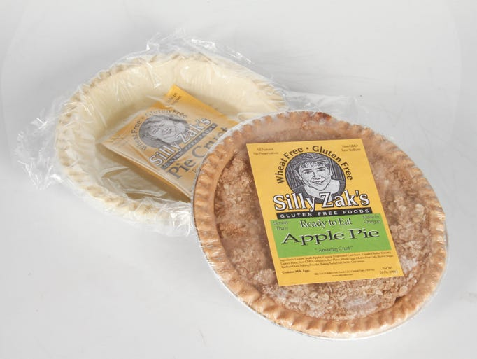 Baked goodness: Gluten free options for pie lovers including gluten free pie crust ($4.99) and frozen ready-to-eat glutten free apple pie ($9.99), just thaw, warm and serve, from Silly Zak's Gluten Free Foods in Central Point, available at Roth's Fresh Markets.