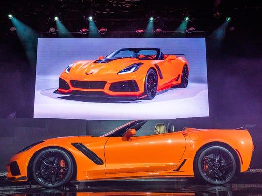 The 2019 Corvette ZR1 convertible makes its world debut