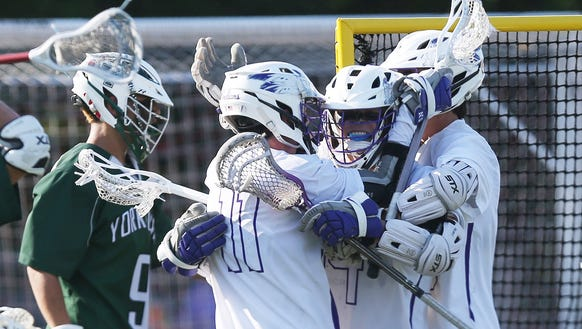 John Jay (CR) defeated Yorktown 10-8 in the boys lacrosse