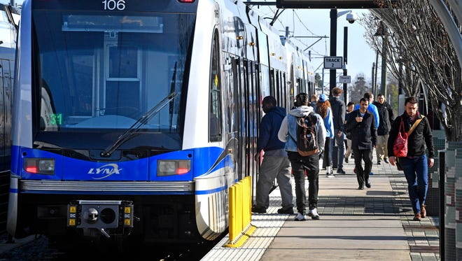 Nashville planners expect higher light rail ridership than in Charlotte, North Carolina, pictured here.