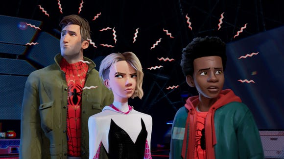 With Spider senses buzzing, Peter Parker (Jake Johnson),