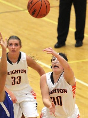 Brighton senior point guard Alex Forster (30) has developed into a leadership role for the Bulldogs this season.