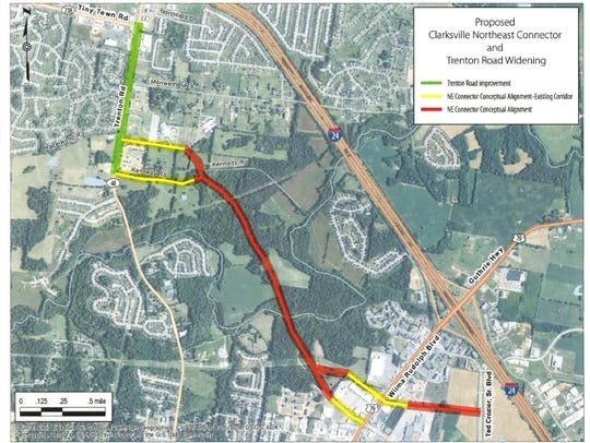 A proposed road will connect Trenton Road to Wilma