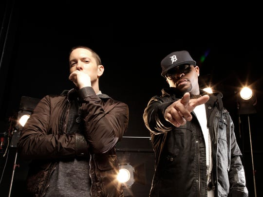 "Eminem and Royce da 5'9"", recorded together as Bad"