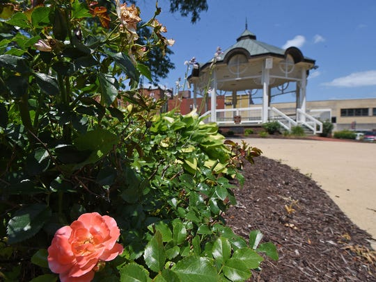 The gazebo in Central Park in downtown Mansfield.