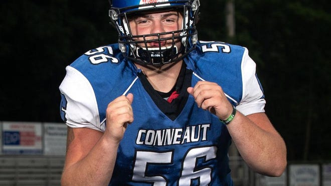 Conneaut Area Senior High School's Zach Kehl, OL/DL, is shown at Meadville High School on July 7, 2020.