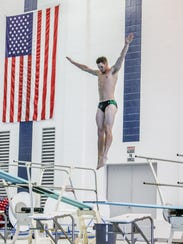 Howell's Caleb Balgaard was eighth in diving at the