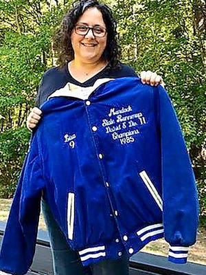 These days Lisa (Casavant) Morse works as a nurse and lives in Lunenburg with her husband, Lee, and their three kids and she is still immesely proud of her 1985 Murdock field hockey state finalist jacket.