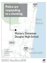 Authorities say they're responding to a shooting at