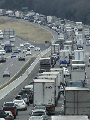 This file photo shows congested traffic on Interstate 24 after a fatal wreck between the Rocky Fork Road overpass and Sam Ridley Parkway in Smyrna.