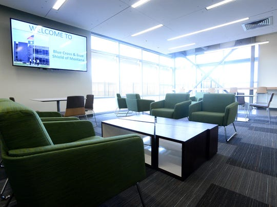 Blue Cross Blue Shield of Montana's new 93,000 square foot headquarters building located on 21 acres in Helena. Employees that were once spread over two office locations in Helena are now able to work together under one roof.