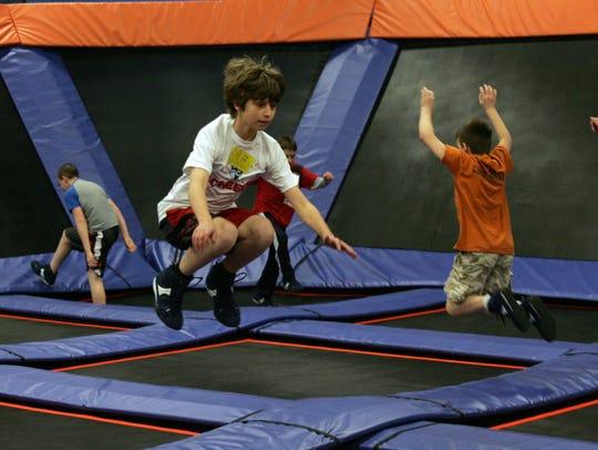 Sky Zone Indoor Trampoline Park recently opened at