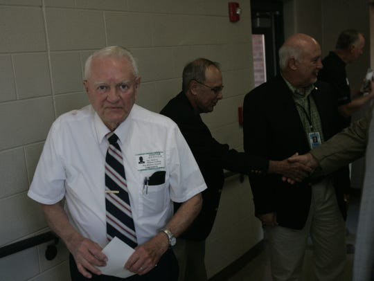 Roy Waldron attends the ribbon cutting Friday morning