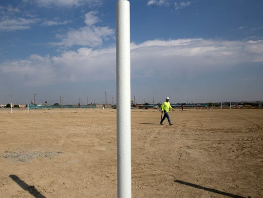 Work contiunes  on the construction of a new rodeo