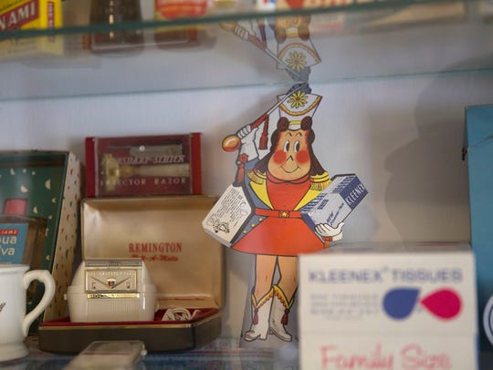 Memorabilia from the 1950s and 60s donated by Aztec