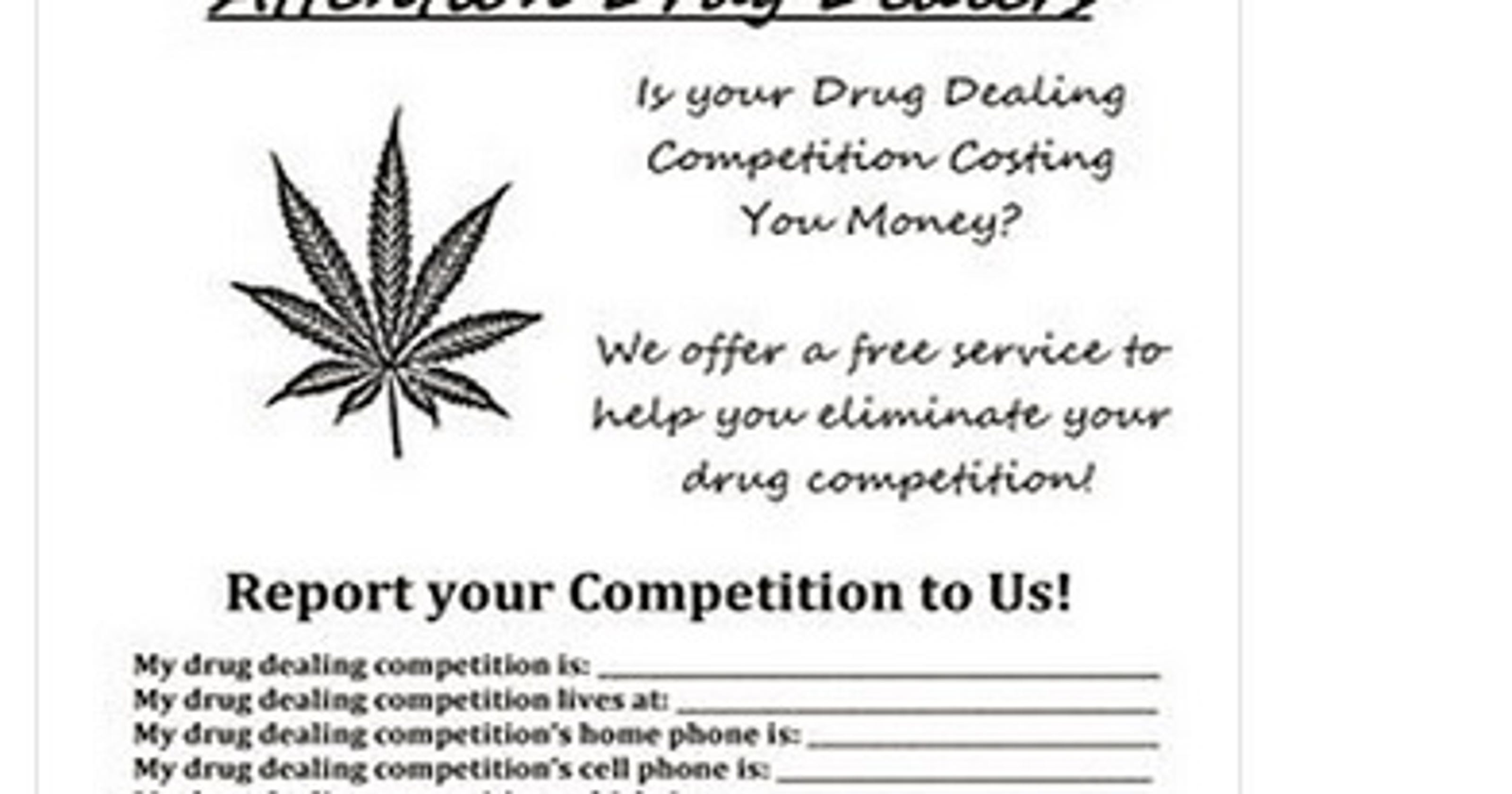 Sheriff's office asks drug dealers to turn in their rivals