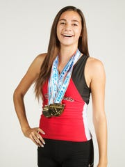 Evangelical Christian School sprinter Moriah Oliveira.