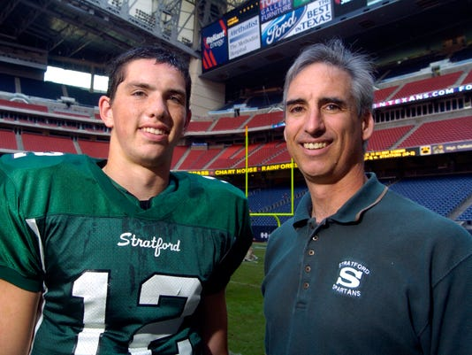 Oliver Luck, with his son, Andrew Luck