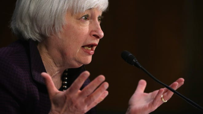 Federal Reserve Chair  Janet Yellen has said the central bank won't ra raise interest rates until it's reasonably confident inflation is heading back up to the Fed's target.