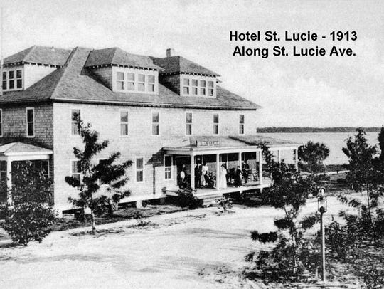 Hotel St. Lucie in 1913 (later known as St. Lucie Hotel).