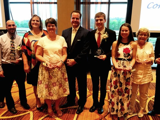 Winners from the 2017 Anderson Area Chamber of Commerce Annual Awards.