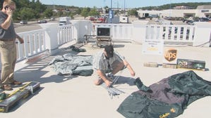 Man camping on roof in hopes of raising $20,000 for STRIVE