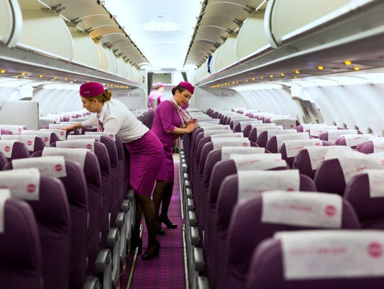 WOW Airlines celebrated their first flight from CVG