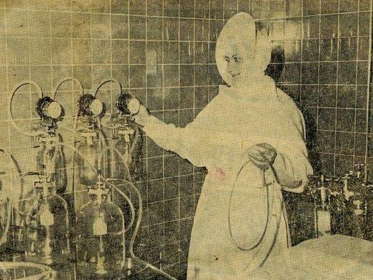Sister Mary Louise, Columbus Hospital surgery superintendent,