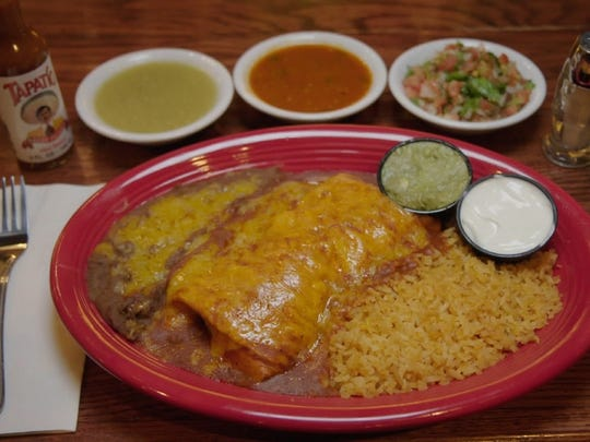 """The shredded chicken burrito at Las Casuelas Terraza  in Palm Springs will appear on an episode of the Food Network's """"Guilty Pleasures."""""""
