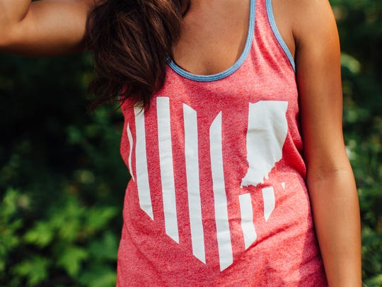 "United State of Indiana's ""USI Heart Flag"" tank. $32,"