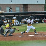 Grambling's Darion Brown takes a swing against Texas College.