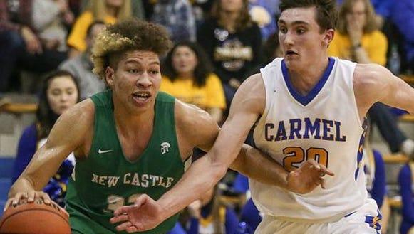 Carmel defeated New Castle 61-59 on Saturday night.