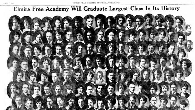 Elmira Free Academy's Class of 1923, printed in the Star-Gazette on June 26, 1923.