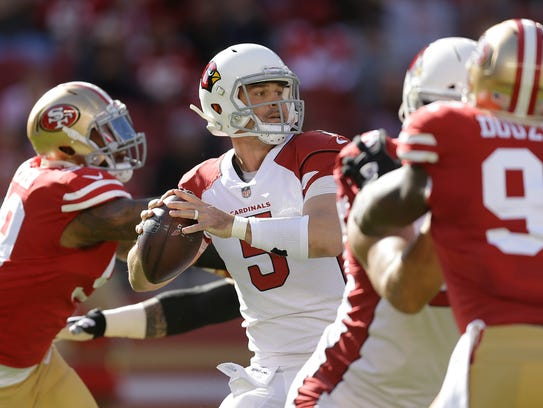 Arizona Cardinals quarterback Drew Stanton (5) passes