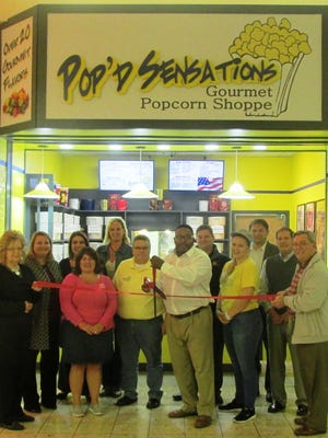 Pop'd Sensations Gourmet Popcorn Shoppe is open in the Marion Centre Mall.