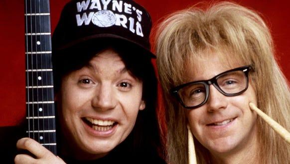 'Wayne's World,' starring Mike Myers and Dana Carvey,