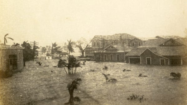 Everglades City during 1926 Hurricane