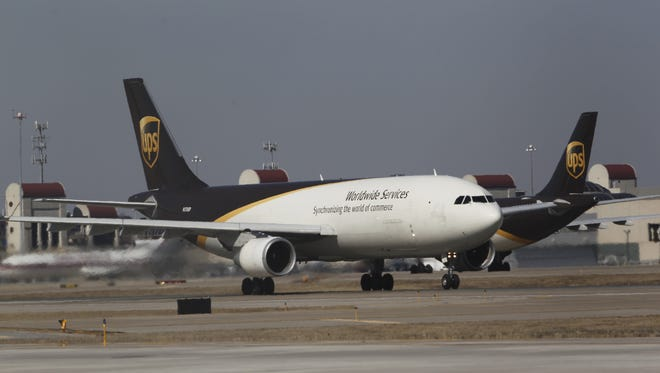 UPS Planes take of and land at the Louisville International Airport in Louisville, Kentucky.       March 13, 2014