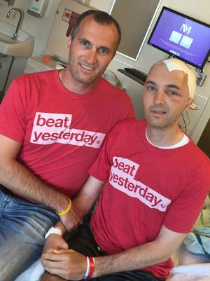 Shane Green, left, has been by his twin brother Shawn's side through an arduous battle with cancer.