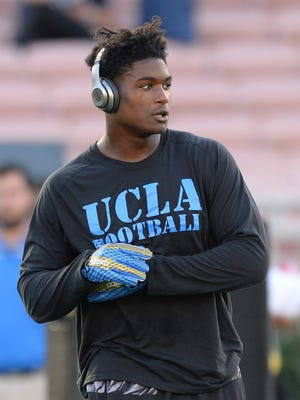 """""""I'd rather be playing right now, honestly. I'd rather be playing and be with my teammates and my brothers,"""" said Myles Jack, who withdrew from UCLA because of a season-ending injury. He hopes to """"chip away"""" at his degree again next summer. Right now, he is focused on the NFL draft."""