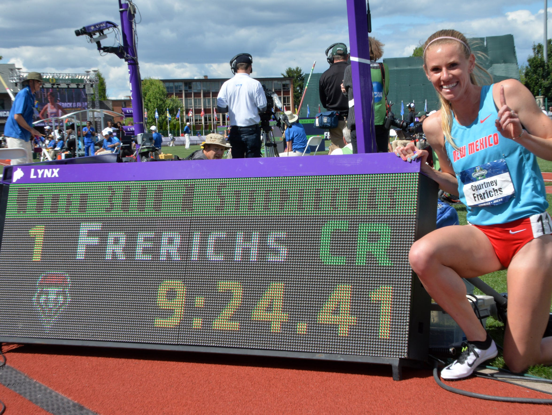 Courtney Frerichs set an NCAA record in her winning