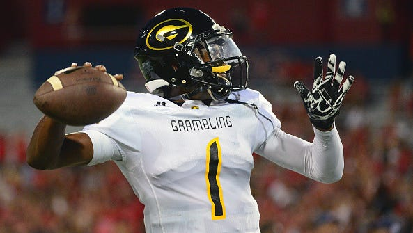 Grambling State quarterback DeVante Kincade racked up 315 yards of total offense against JSU's defense in Saturday night's 36-21 win over the Tigers.