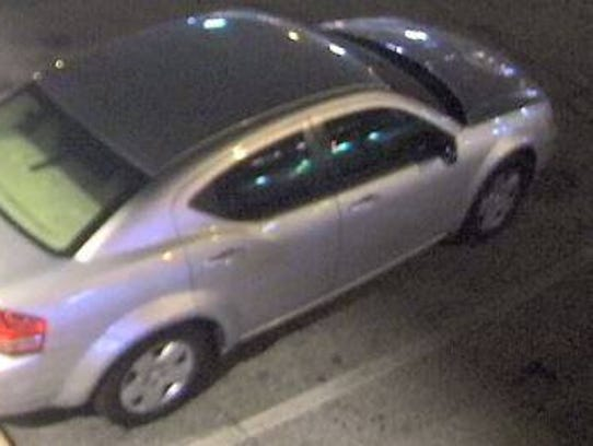 Police released this image of a silver car that may