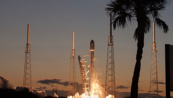 A SpaceX Falcon 9 rocket launched the SES-8 satellite